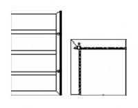 Надставка угловая наружная Н=1,2;0,6м.
