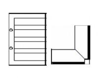 Надставка угловая внутренняя Н=1,2;0,6м.